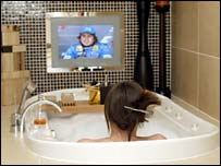 TV by the bath