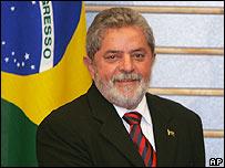 El presidente de Brasil, Luiz Inácio Lula de Silva