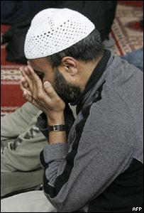 Musulmán reza.