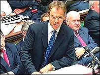 Tony Blair aux Communes