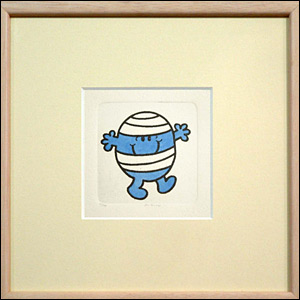 An etching of Mr Bump