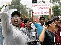 Protesters on an anti-reservation rally