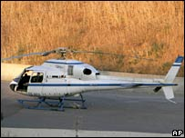 The helicopter that was used in the jailbreak