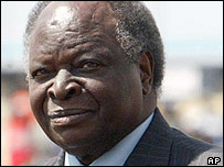 Kenya's President Mwai Kibaki