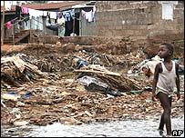 Child in a neighbourhood of Freetown, Sierra Leone