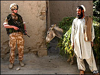 British soldier with an Afghan man in Kabul
