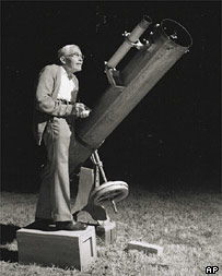 Pluto discoverer Clyde Tombaugh pictured in 1980 (AP)