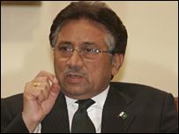 Pakistani President Gen Pervez Musharraf