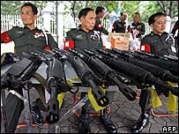 Thai soldiers in Bangkok - 26 September 2006