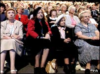 The audience at the Conservative Party conference in Bournemouth