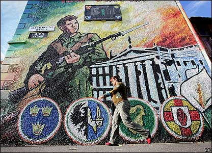 IRA mural in Belfast from BBC website