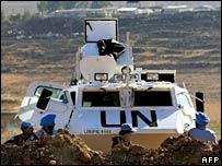 UN peacekeepers in Lebanon. File photo