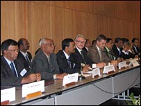 Delegates at Sri Lankan peace talks in Geneva