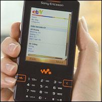 Sony W950 X-Series phone using Ebay