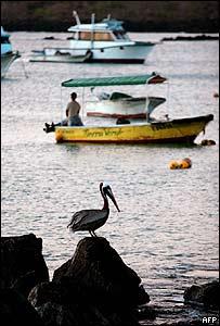 Puerto Baquerizo Moreno, en la isla de San Cristobal en las Galápagos