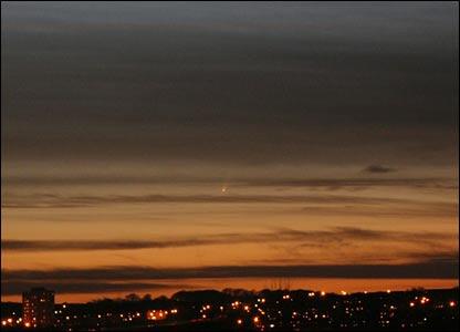 foto do cometa