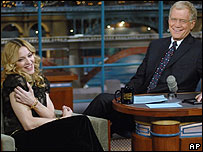 Madonna on the David Letterman Show