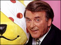 Terry Wogan pictured with Pudsey in 2001