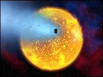La atmósfera se evapora debido al gran calor generado por su estrella.
