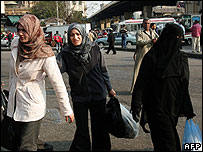 Egyptian women in Cairo