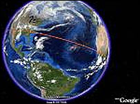Imagen captada del sitio de Google Earth
