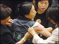 Taiwanese MP injured in brawl