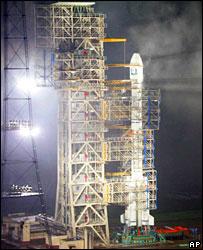 Rocket preparing to launch