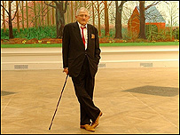 David Hockney unveils his painting