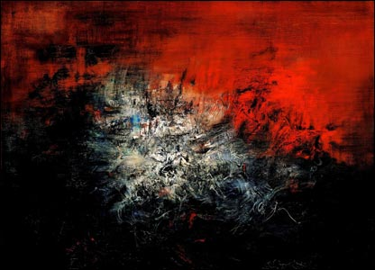 With The Olympics In China I Thought I Would Include This Piece That I Found On Chinese Abstract Zhao Wujis Abstract Painting