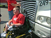 wheelchair man BBC news