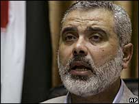 Sacked Prime Minister Ismail Haniya