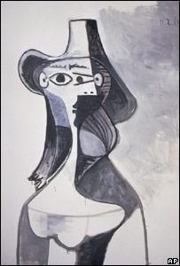 """""""Retrato de Jacqueline"""", uno de los cuadros que fue robado."""
