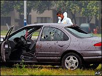 Auto de vãtima de homicidio en México.
