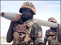 Ugandan AU soldiers in Somalia (file)