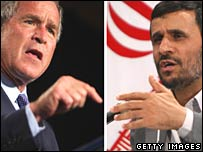 George W Bush and Mahmoud Ahmadinejad combination