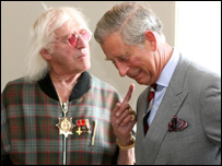 Prince Charles and Jimmy Savile