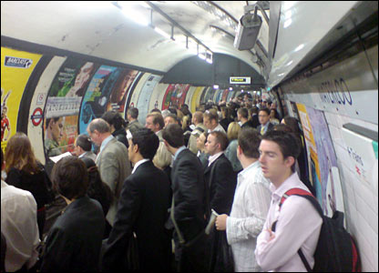 Londoners commuting