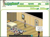 Screen shot from Metaplace