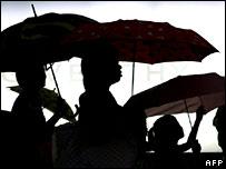Sombrillas. Imagen: AFP/Getty