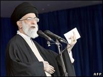 Ayatollah Ali Khamenei leads the Eid al-Fitr prayer in Tehran