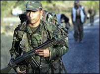 جندي تركي على الحدود العراقية