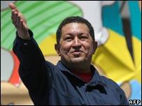 Hugo Chavez in Chile, 10 Nov