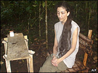 A still of Ingrid Betancourt, from a video seized from captured Farc rebels