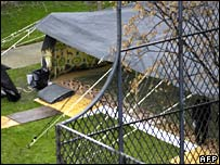 خيمة القذافي في أرض قصر الضيافة بباريس