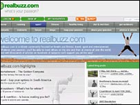 Screen shot of Realbuzz site