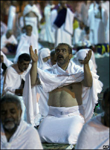 Pilgrim on Mount Arafat
