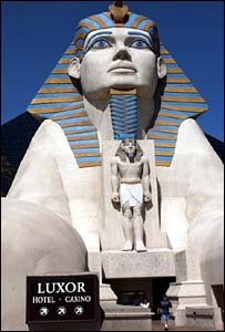 Entrance to Luxor casino, Las Vegas