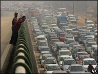 Delhi traffic chaos