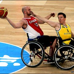 Wheelchair Olympics Chairs From Target Bbc Sport Beijing Begins Its Olympic Year Australian And Canadian Basketball Players In Action