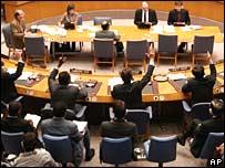 Miembros del Consejo de Seguridad votan el lunes 3 de marzo